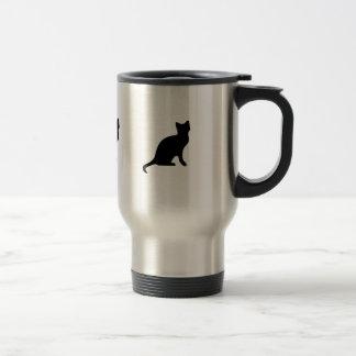 Taza del viaje del café del gato negro