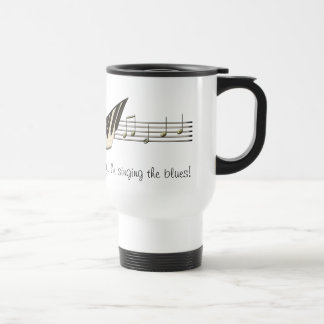 Taza del viaje del diseño de la música