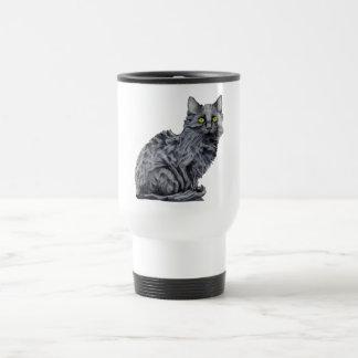 Taza del viaje del gato negro