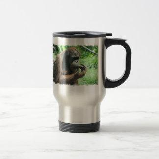 Taza del viaje del mono del orangután