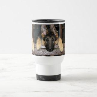 Taza del viaje del perro de pastor alemán