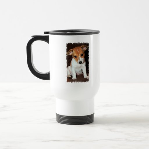 Taza del viaje del perro de perrito de Jack Russel
