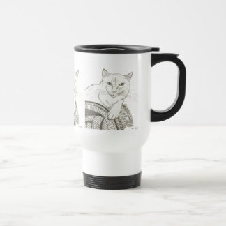 Taza del viaje del retrato de Ragdoll del gato