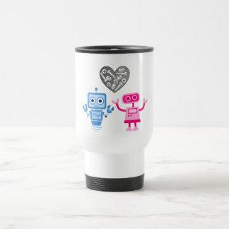 taza del viaje del Robo-amor