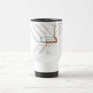 Taza del viaje del subterráneo de Philadelphia