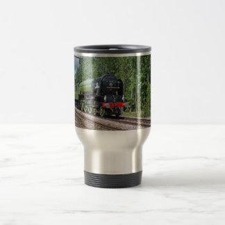 Taza del viaje del tren del vapor