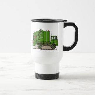 Taza del viaje del verde del camión de basura