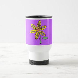 Taza del viaje - flower power amarillo suave