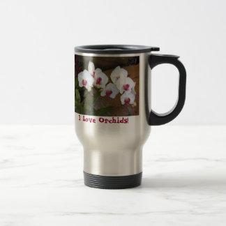 ¡Taza del viaje - orquídeas del amor de I! Taza De Viaje