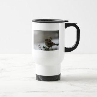 Taza del viajero del gorrión