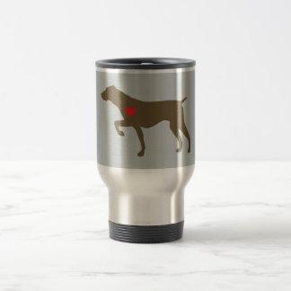 Taza del viajero del perro del logotipo