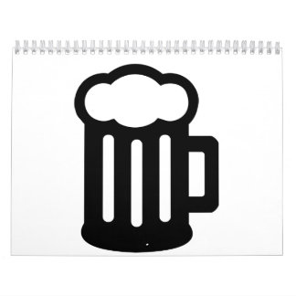 Taza del vidrio de cerveza calendario