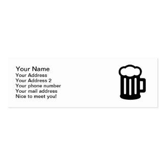 Taza del vidrio de cerveza tarjetas de visita mini