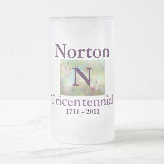 Taza del vidrio de Norton 1711 Tricentennial -
