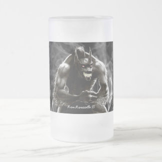Taza del vidrio del hombre lobo
