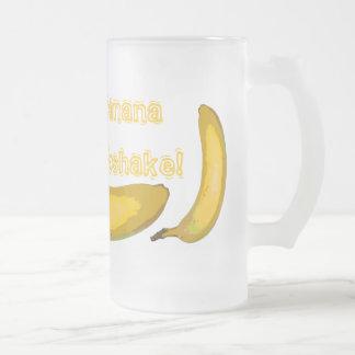 Taza del vidrio del Milkshake del plátano del arte