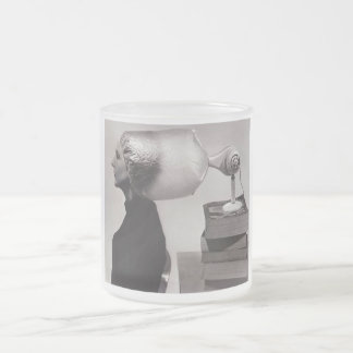 Taza del vidrio esmerilado - belleza del vintage