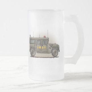 Taza del vidrio esmerilado de Hummer del equipo de