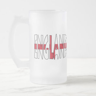 Taza del vidrio esmerilado de Inglaterra