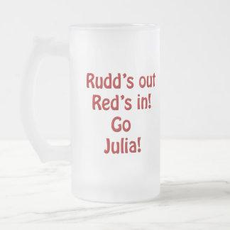Taza del vidrio esmerilado de Julia Gillard
