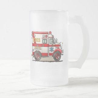 Taza del vidrio esmerilado de la ambulancia del ca