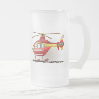 Taza del vidrio esmerilado de la ambulancia del he