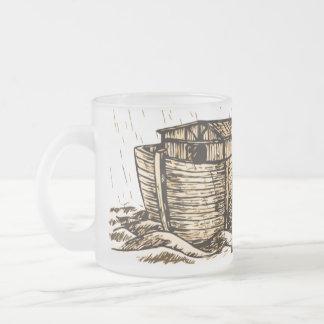 Taza del vidrio esmerilado de la arca de Noah