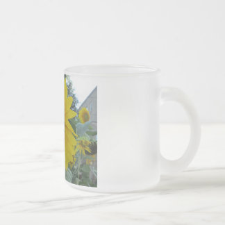 Taza del vidrio esmerilado de la planta del
