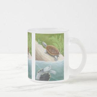 Taza del vidrio esmerilado de las tortugas