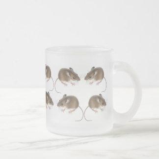 Taza del vidrio esmerilado de los ratones de cierv