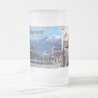 Taza del vidrio esmerilado de Skagway