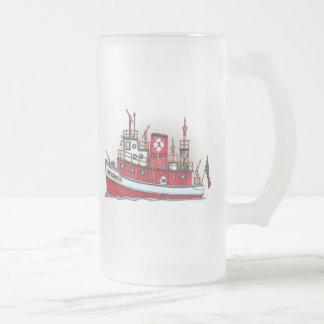 Taza del vidrio esmerilado del barco del fuego