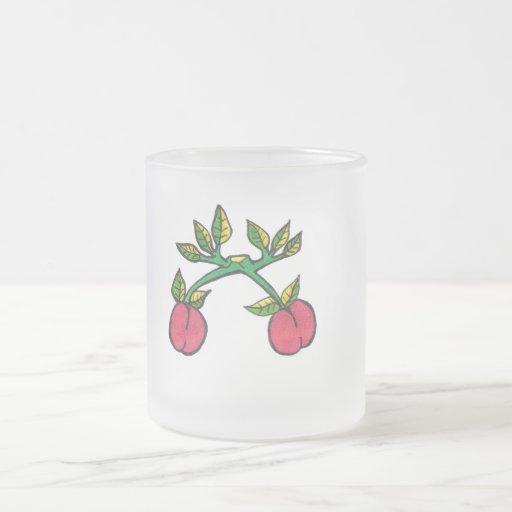 Taza del vidrio esmerilado del choque de la cereza