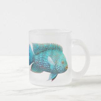 Taza del vidrio esmerilado del Cichlid de Carpinti