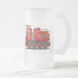 Taza del vidrio esmerilado del coche de bomberos d