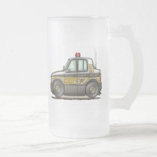 Taza del vidrio esmerilado del coche patrulla del