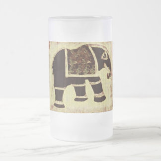 Taza del vidrio esmerilado del elefante