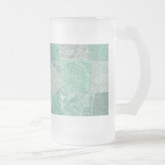 Taza del vidrio esmerilado del fondo del remiendo