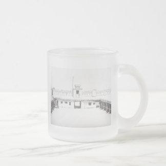 Taza del vidrio esmerilado del fuerte de la encorv