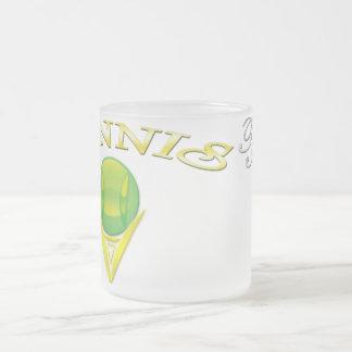 Taza del vidrio esmerilado del logotipo del tenis