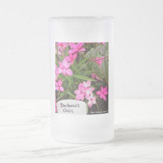 Taza del vidrio esmerilado del oasis de Barbara