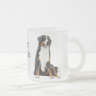 Taza del vidrio esmerilado del perro de montaña de