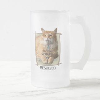 Taza del vidrio esmerilado del problema del ratón