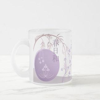 Taza del vidrio esmerilado - primavera japonesa