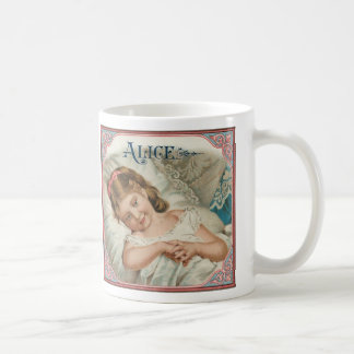 Taza del vintage de Alicia