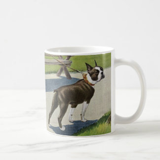 Taza del vintage de Boston Terrier