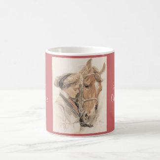 Taza del vintage del caballo