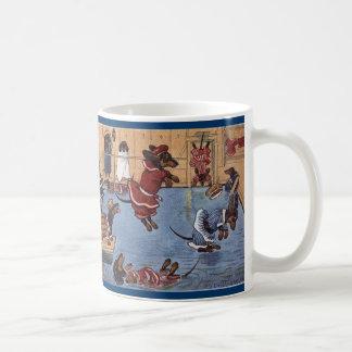 Taza del vintage del Dachshund