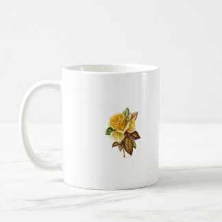 Taza del vintage del rosa amarillo