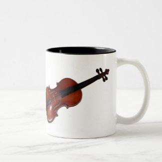 ¿Taza del violín - puede usted oír la música? Taza De Dos Tonos